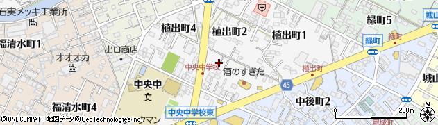 愛知県碧南市植出町周辺の地図
