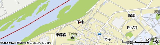 愛知県西尾市西浅井町(干地)周辺の地図