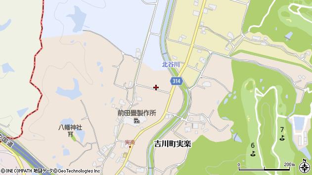 〒673-1106 兵庫県三木市吉川町実楽の地図