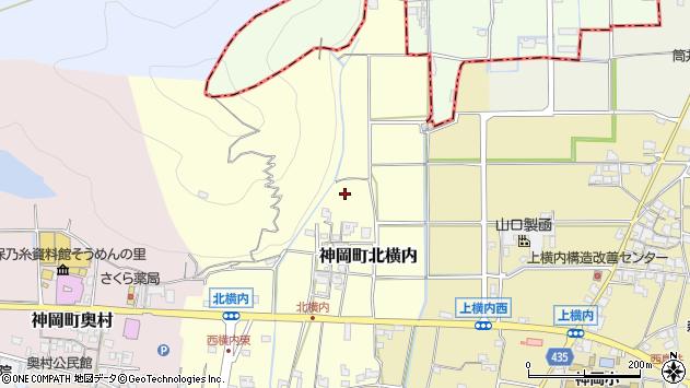 〒679-4102 兵庫県たつの市神岡町北横内の地図
