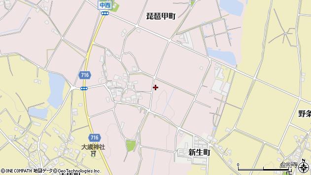 〒675-2201 兵庫県加西市琵琶甲町の地図