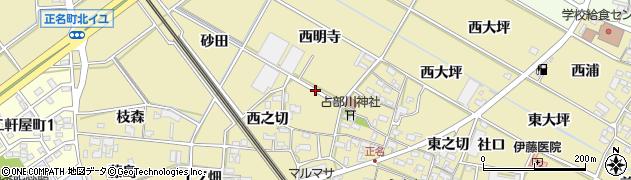 愛知県岡崎市正名町周辺の地図