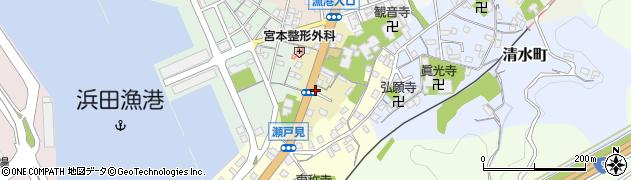 島根県浜田市原町周辺の地図