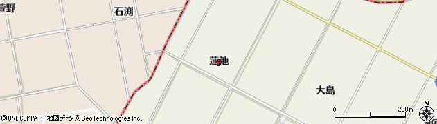 愛知県西尾市米津町(蓮池)周辺の地図