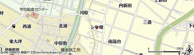 愛知県岡崎市福岡町(シケ畑)周辺の地図
