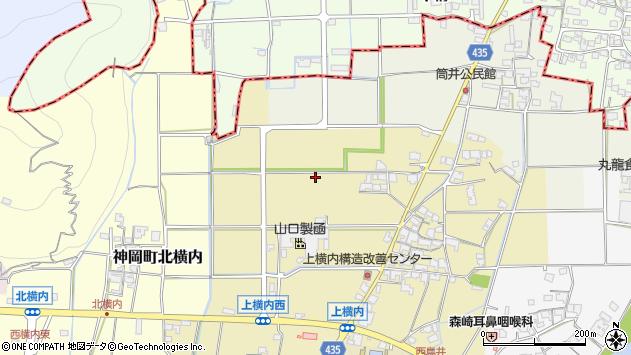 〒679-4103 兵庫県たつの市神岡町上横内の地図