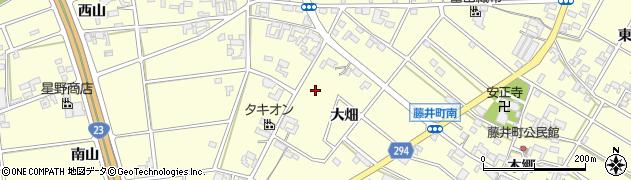 愛知県安城市藤井町周辺の地図