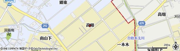 愛知県西尾市東浅井町(高畑)周辺の地図
