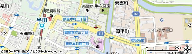 愛知県半田市中村町周辺の地図