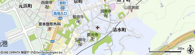 島根県浜田市清水町周辺の地図