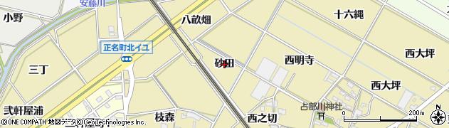愛知県岡崎市正名町(砂田)周辺の地図