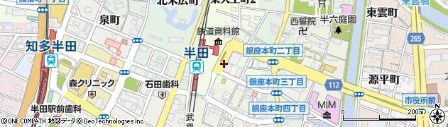 愛知県半田市御幸町周辺の地図