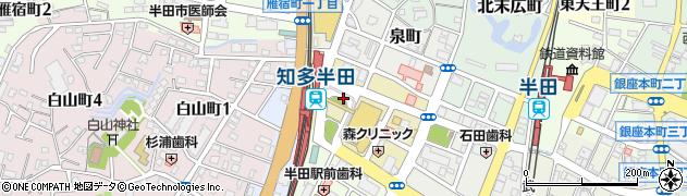愛知県半田市広小路町周辺の地図