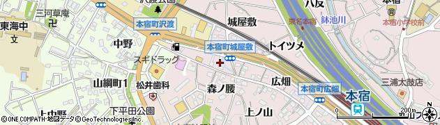 愛知県岡崎市本宿町(城屋敷)周辺の地図