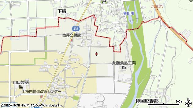 〒679-4104 兵庫県たつの市神岡町筒井の地図
