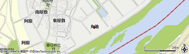 愛知県安城市木戸町(丸池)周辺の地図