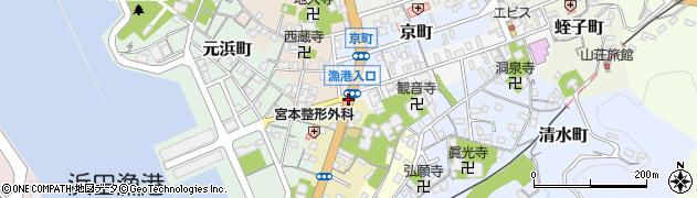 漁港入口周辺の地図