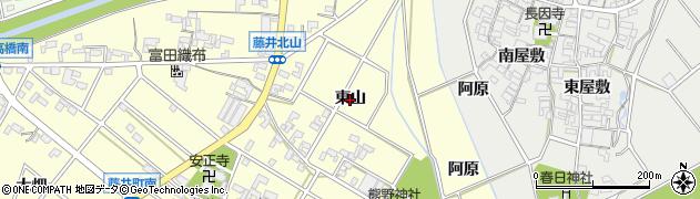 愛知県安城市藤井町(東山)周辺の地図