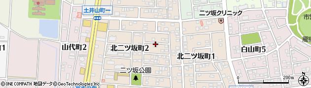 愛知県半田市北二ツ坂町周辺の地図