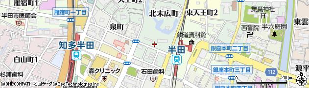 愛知県半田市北末広町周辺の地図