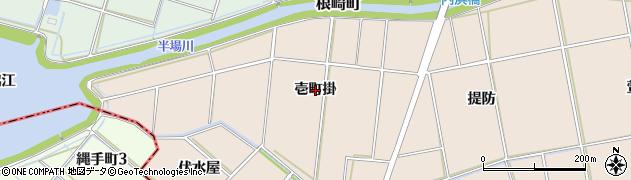 愛知県安城市根崎町(壱町掛)周辺の地図