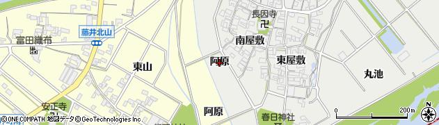 愛知県安城市木戸町(阿原)周辺の地図