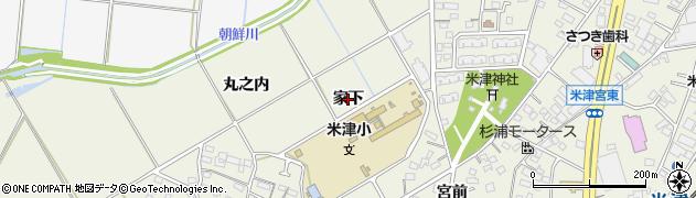 愛知県西尾市米津町(家下)周辺の地図