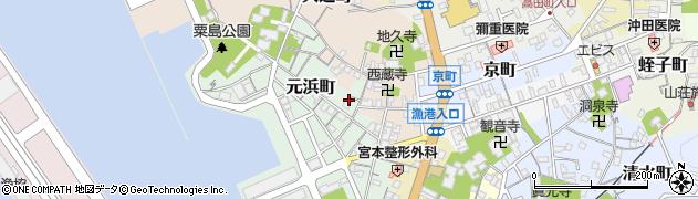 島根県浜田市元浜町周辺の地図