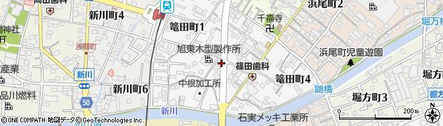 愛知県碧南市篭田町周辺の地図