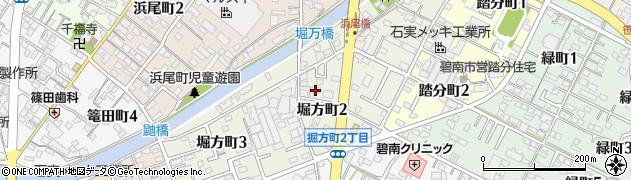 愛知県碧南市堀方町周辺の地図