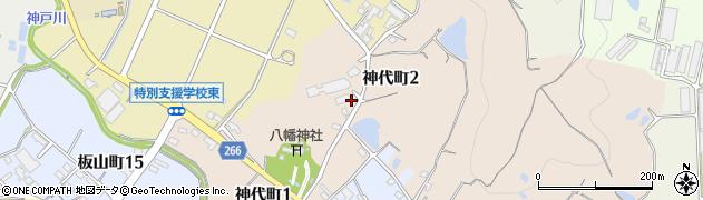 愛知県半田市神代町周辺の地図