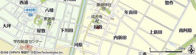 愛知県岡崎市福岡町(屋敷)周辺の地図