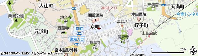 島根県浜田市京町周辺の地図