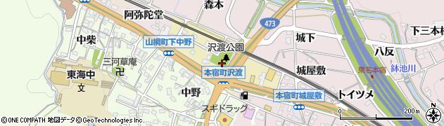 愛知県岡崎市本宿西周辺の地図