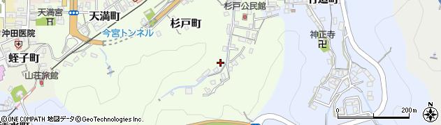 島根県浜田市杉戸町周辺の地図