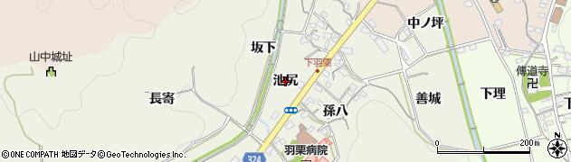 愛知県岡崎市羽栗町(池尻)周辺の地図