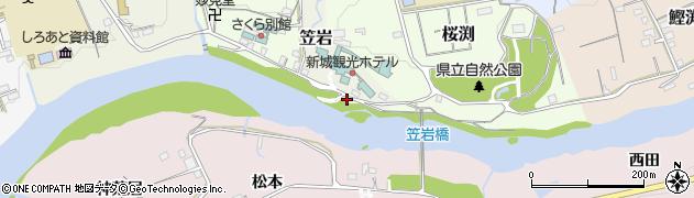 愛知県新城市笠岩周辺の地図