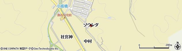 愛知県岡崎市桑谷町(ゾウシダ)周辺の地図