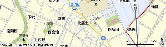 愛知県岡崎市福岡町(北居土)周辺の地図