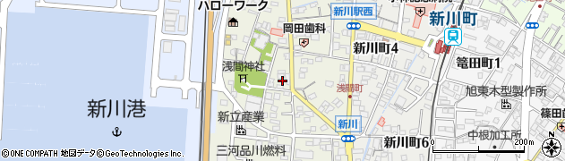 愛知県碧南市浅間町周辺の地図
