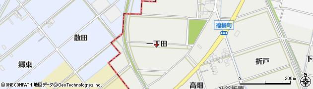 愛知県岡崎市福桶町(一丁田)周辺の地図
