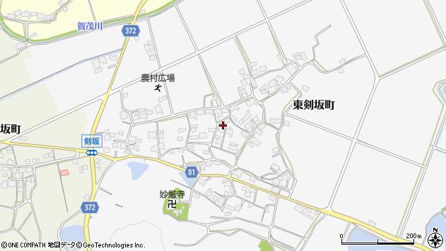 〒675-2346 兵庫県加西市東剣坂町の地図