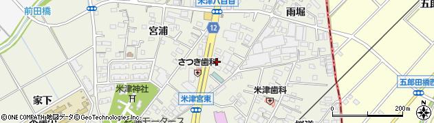 愛知県西尾市米津町周辺の地図