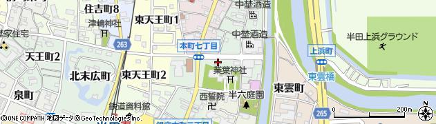 ぎょうざの店・三七福周辺の地図