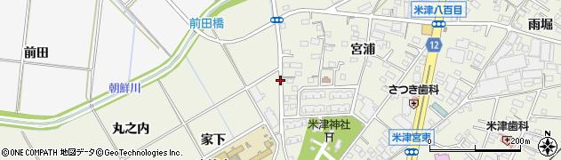 愛知県西尾市米津町(朝鮮)周辺の地図