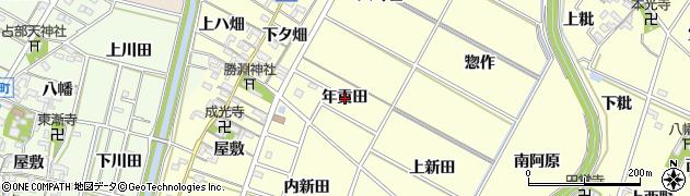 愛知県岡崎市福岡町(年貢田)周辺の地図