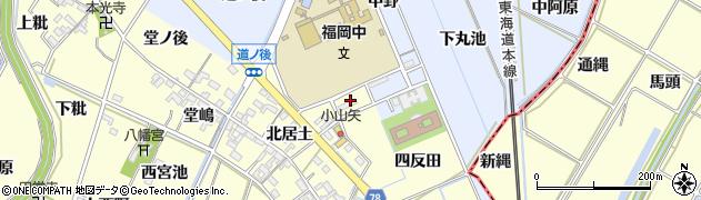 愛知県岡崎市福岡町(井杭)周辺の地図