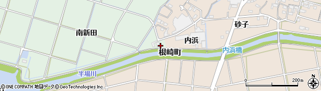 愛知県安城市東端町(南内浜)周辺の地図