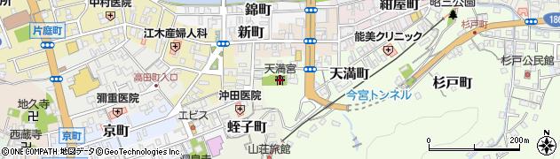 天満宮周辺の地図