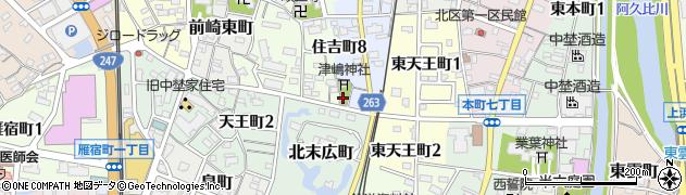 津嶋神社周辺の地図